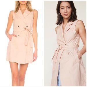 LPA Revolve 699 belted trench dress